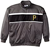 MLB Pittsburgh Pirates Men's Track Jacket, 4X-Large, Charcoal/Black