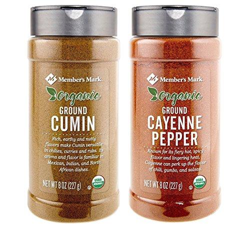Organic Ground Cumin (8 oz.) and Organic Ground Cayenne Pepper (9 oz.) Bundle by Member's Mark (Image #1)