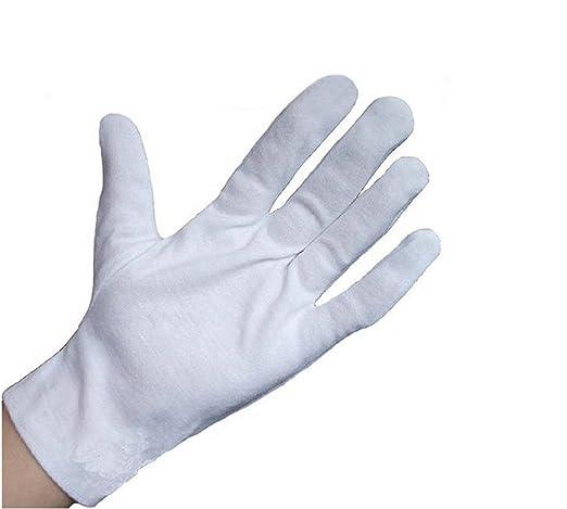 6 Paar Weiß Baumwolle Handschuhe Schutz Arbeiten Handschuh Gratis