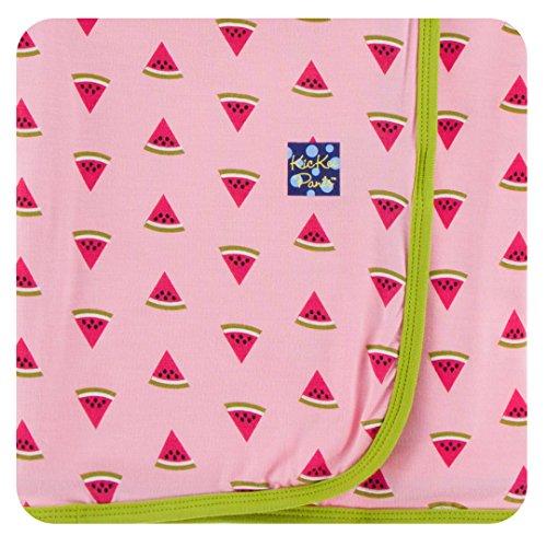KicKee Pants Little Girls Print Swaddling Blanket - Lotus Watermelon, One Size