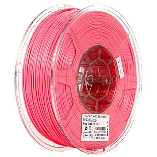 eSUN 1.75mm Pink PLA PRO (PLA+) 3D Printer Filament 1KG Spool (2.2lbs), Pink