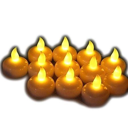 samtlan velas de LED 12 pcs uniforme laboral sanitario de té ...