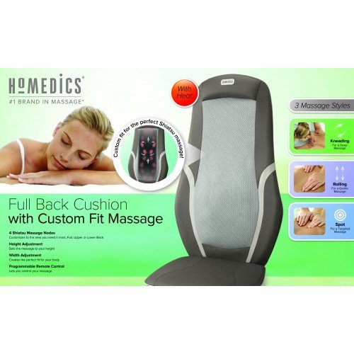 HoMedics MCS-490H Full Back Cushion with Custom Fit Massage