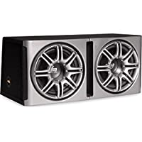 Polk Audio db1222 Dual 12 Loaded db Series Hatchback Ported Subwoofer Enclosure with Grilles