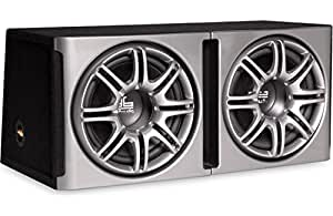 "Polk Audio db1222 Dual 12"" Loaded db Series Hatchback Ported Subwoofer Enclosure with Grilles"