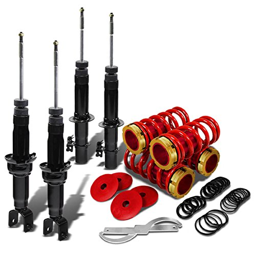 For Honda Civic/Integra Black DNA Shock Absorber with Coilover (Gold Sleeves/Red Springs) - EG EH EJ DB DC ()