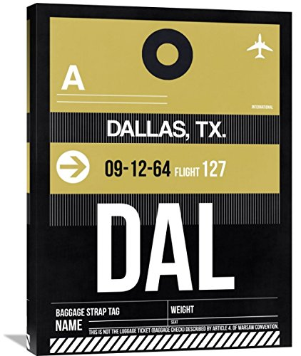 """Naxart Studio """"DAL Dallas Luggage Tag 2"""" Giclee on Canvas, 24"""" by 1.5"""" by 32"""" from Naxart Studio"""