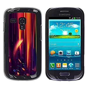 PC/Aluminum Funda Carcasa protectora para Samsung Galaxy S3 MINI NOT REGULAR! I8190 I8190N Orange Purple Light Black Flame Speed / JUSTGO PHONE PROTECTOR