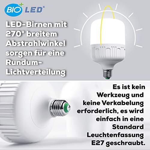 Bioled 50W, 2 Pack, E27, White(6400K), 500 Watt Equivalent, LED Light Bulbs, IP40 Dustproof& Humudity Proof Light Bulbs, Commercial&Residental Bright LED Bulb, Shop Light, Garage Light, Home Light