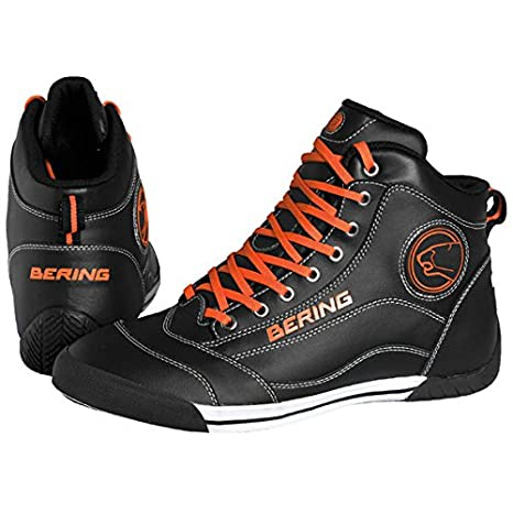Bering - Zapatillas moto Bering POP - Talla: 43 - Color: Negro/Naranja: Amazon.es: Coche y moto