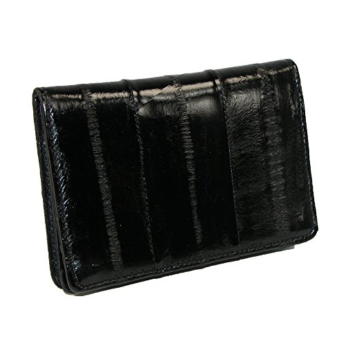 Eel Skin Business Card - MJ Masters Men's Eel Skin Credit Card and Business Card Case, Black