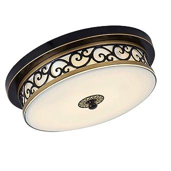 Uberlegen Retro LED Deckenleuchte Metall Stoff Glas Kreative Deckenlampe  Schmiedeeisen Runden Design Dekoration Leuchtung Einfache Innenbeleuchtung  Wohnzimmer