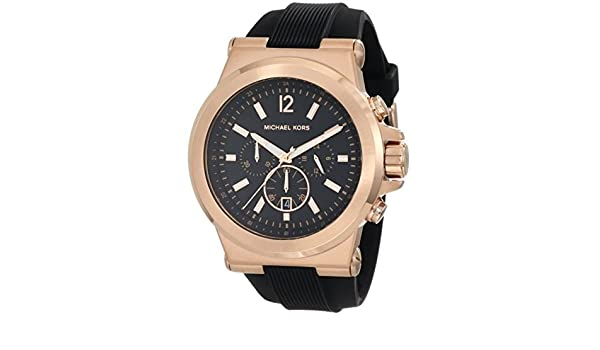 Mk8184 13mm Reloj Plástico Negro Michael Caucho De Kors Correa WrBCoedx