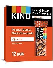 KIND Bars, Peanut Butter Dark Chocolate, Gluten Free,1.4 Ounce,12 Count