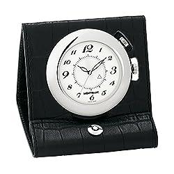 MONTBLANC 9676 Quartz Travel Clock Black