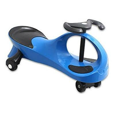 Unbranded Blue Twistcar Roller Twist Car Kids Ride On Wiggle Outdoor Play Swing Vehicle: Toys & Games