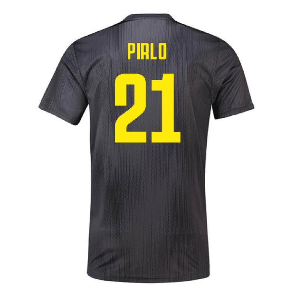 2018-19 Juventus Third Football Soccer T-Shirt Trikot (Andrea Pirlo 21)