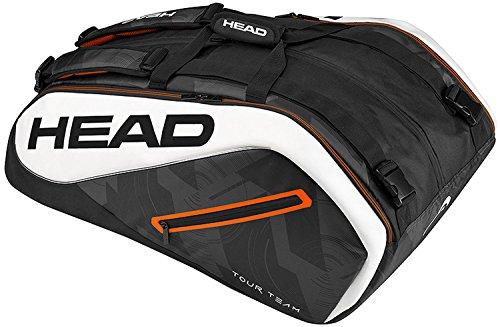 HEAD Tour Team 12R Monstercombi Tennis Bag, Black/White