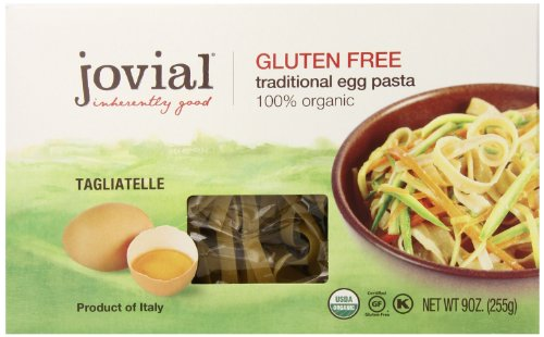 Jovial Foods Organic Gluten Free Traditional Egg Pasta, Egg Tagliatelle, 9 ounce (Low Calorie Pasta)