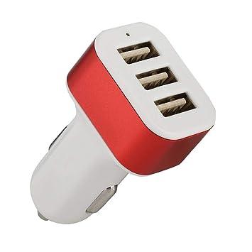 ASHATA Cargador de Coche, EC12 Tres Puertos USB 5.8A 30W ...