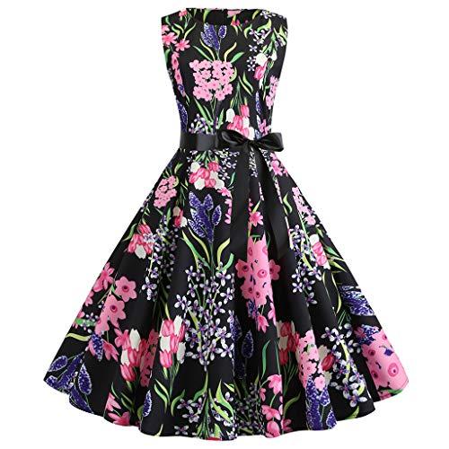 - Shusuen Boatneck Sleeveless Vintage Tea Dress Belt Women Vintage 1950s Retro Rockabilly Prom Dresses Purple