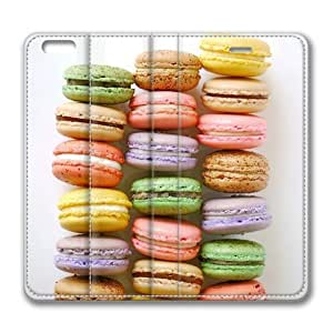 """iPhone 6 Case,iPhone 6 Flip Case-Colorful Cute Food Macaroons 002 Leather Cover for iPhone 6(4.7"""") by ruishername"""