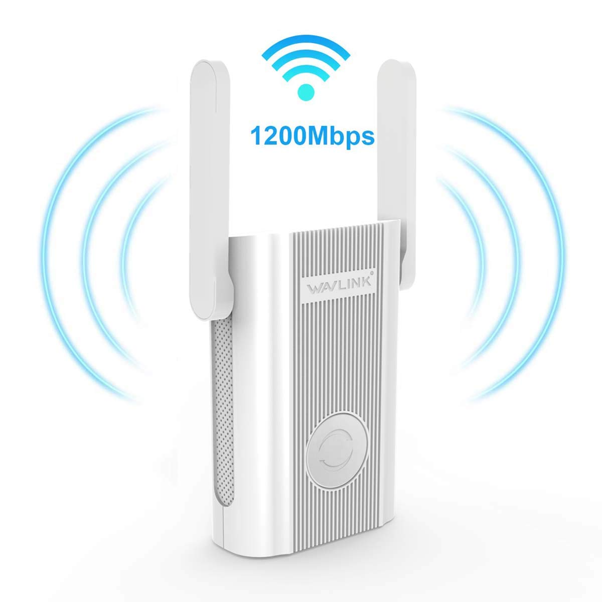 Updated Version 1200Mbps WiFi Extender Plug in Wall, WAVLINK AC1200 Dual Band 2.4 + 5Ghz WiFi Range Extender Wi-Fi Repeater Wireless Signal Booster/Access Point AP with Ethernet Port for Gaming by WAVLINK
