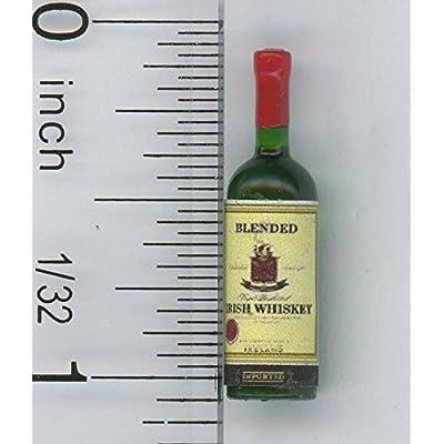 Dollhouse Miniature 1:12 Scale Irish Whiskey Display Bottle: Toys & Games