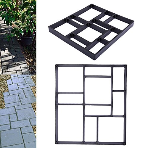 LAZYMOON Pathmate Stone Molds Concrete Stepping Road DIY Mold Outdoor Decorative Stone Walk Maker Overall Dimensions: 17.7