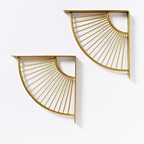 gold brackets for shelves - 2