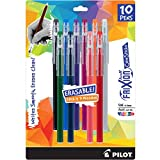 PILOT FriXion ColorSticks Erasable Gel Ink Stick Pens, Assorted Color Inks, 10-Pack (32454)