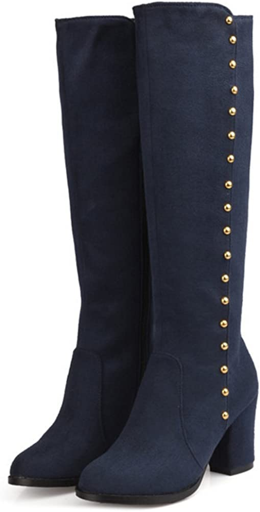 FANIMILA Women Fashion Mid Boots Block Heel Autumn Winter Shoes