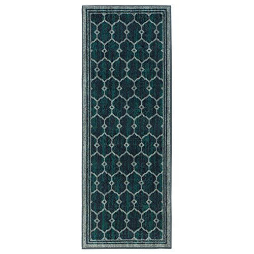 Cheap Ottomanson Authentic Collection Contemporary Trellis Design Kitchen Runner Rug, 20″ X 59″, Green