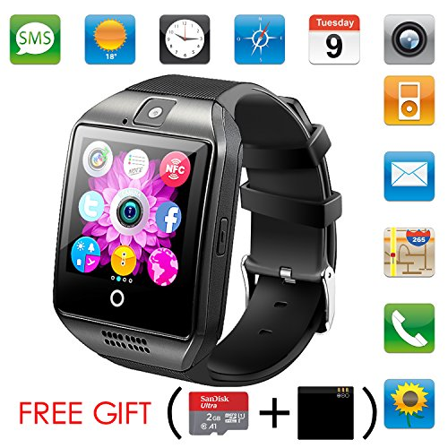 Bluetooth Smart Watch With Camera,Unlocked Bluetooth Watch Cell Phone with Sim Card Slot,Smart Wrist Watch,Smartwatch Phone for Android Samsung IOS Iphone 7 Plus 6S Men Women Kids Boys