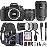 Canon EOS 77D DSLR Camera with 18-55mm is STM and 55-250mm Lenses...