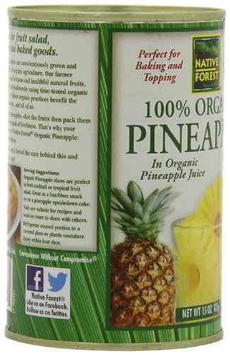 Native Forest Organic Pineapple Slices, 15-Ounce Cans (Pack of 6) by Native Forest (Image #7)