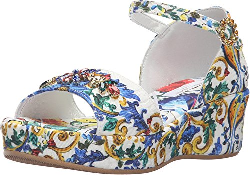 Dolce & Gabbana Kids Girl's Escape Maiolica Floral Wedge (Little Kid/Big Kid) Print Wedge by Dolce & Gabbana