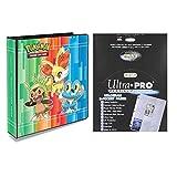 "Ultra Pro Pokemon X & Y 2"" 3-Ring Binder with 100 Platinum 9-Pocket Sheets"