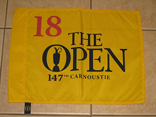 2018 British Open Official Pin Flag - The Open Championship - Carnoustie
