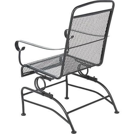 Amazon.com : Outdoor Steel Mesh Patio Rocking Chair Set : Garden U0026 Outdoor