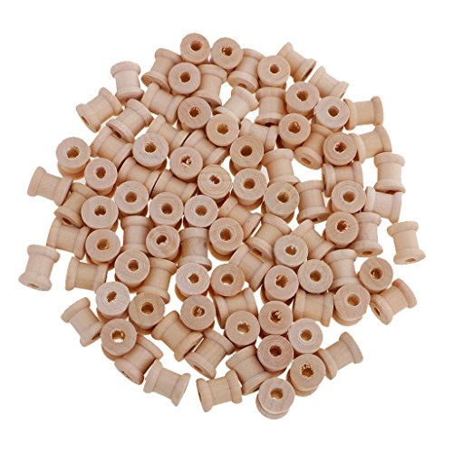 - Jili Online 100 Pieces Vintage Natural Wooden Classic Bobbin Empty Thread Spools DIY Coils fit Sewing Craft&Floss 14x12mm