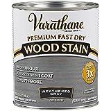 Varathane 269394 Premium Fast Dry Wood Stain, Quart, Weathered Gray