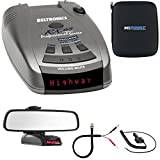 Beltronics RX65 Red Professional Series Radar/Laser Detector w/ Mirror Mount Kit Includes, RadarMount Radar Detector Mirror Wire Power Cord & Car Mirror Mount Bracket For Radar Detectors