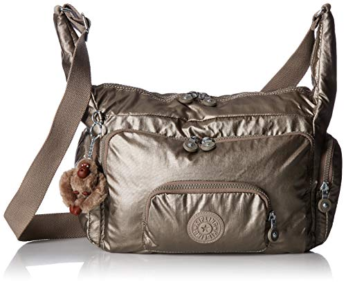 Kipling Erica Solid Crossbody Bag, Metallic Pewter