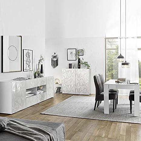 Kasalinea - Mueble de salón de diseño Lacado con Mesa 180 ...