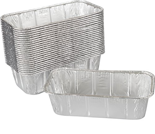 Paksh Disposable Mini Loaf Pan - 50 Baking Pans for Breads, Brownies, Pound Cakes, Meatloaf, and More | 8 ½ x 4 ½ x 2 ½ - Meat Warmer