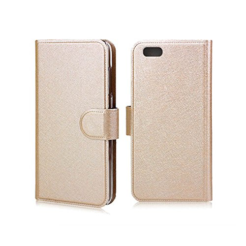 BlackBerry Z30 Case,Z30 Wallet Flip Case, Huijukon Luxury Leather Flip Cover Case Wallet Case【Magnetic Closure】with 2 Card Slots for Blackberry Z30 (Gold)
