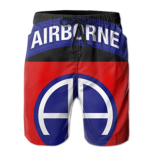 82nd Airborne Division Military Logo Men's Summer Holiday Quick-Drying Swim Trunks Beach Shorts Board Shorts