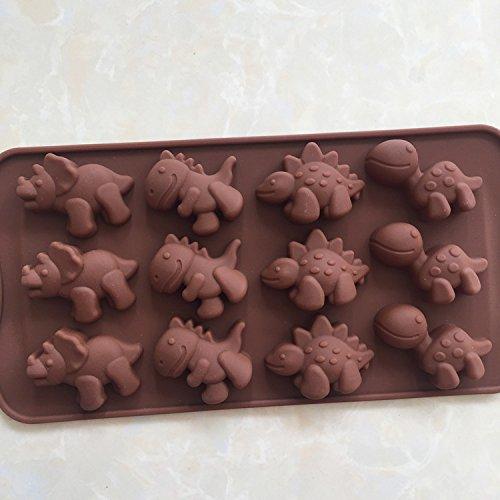 FOOBRTOPOO: Molde de silicona para tartas con forma de dinosaurio ...