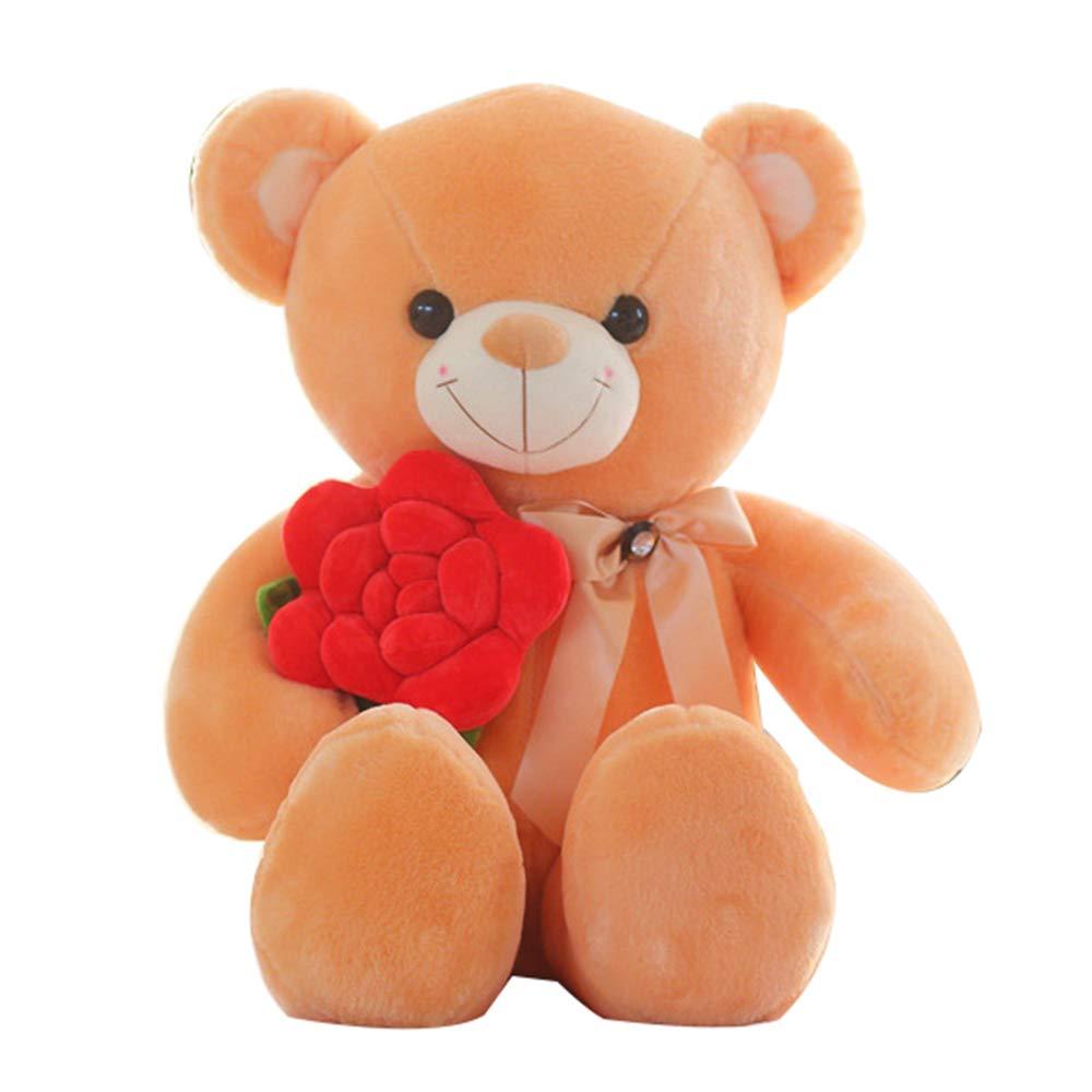 Bambola di Peluche rosa Teddy Bear, Simulazione Simpatica proposta di confessione Bambola Orso Giocattolo Regalo di Compleanno, Regalo di San Valentino, Decorazione della casa Auto ZDDAB